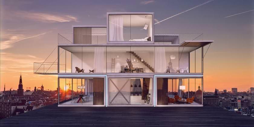 Модульный дом Tetris House