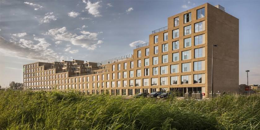 Студенческое общежитие в Амстердаме от Studioninedots