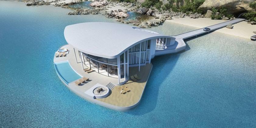Плавающая вилла Sting Ray на берегу Эгейского моря