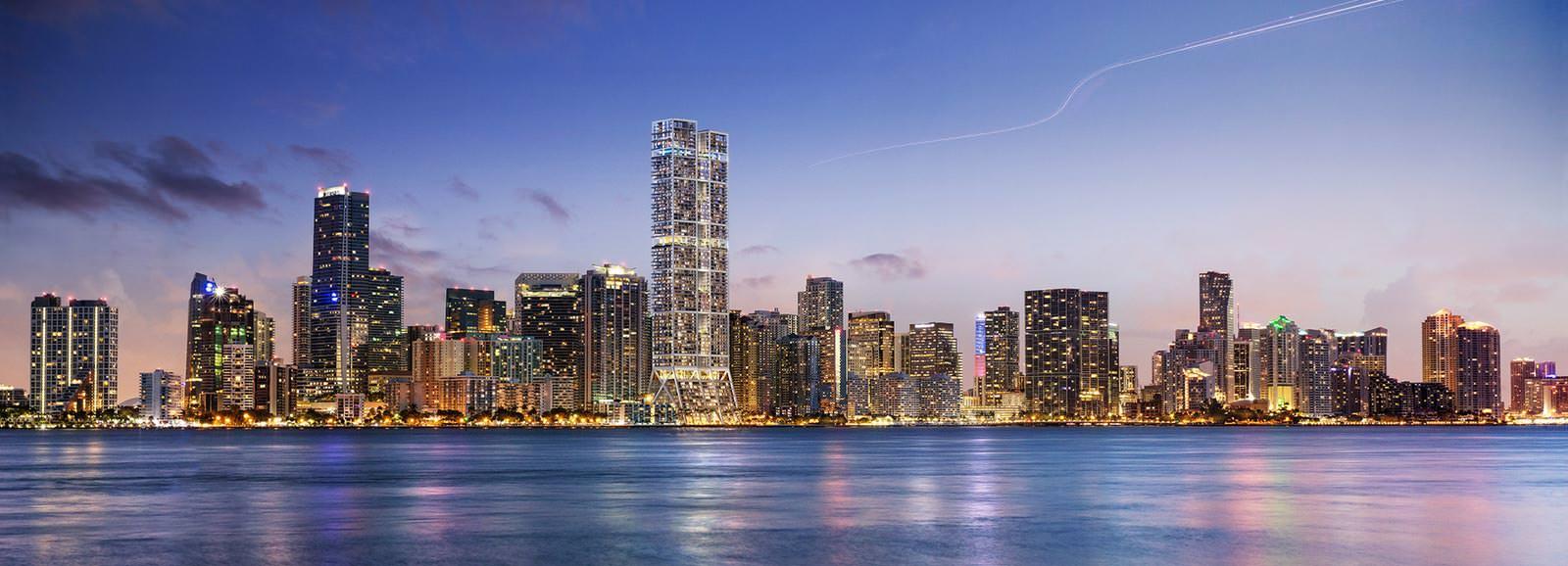 Башни-близнецы в Майами. Проект Нормана Фостера