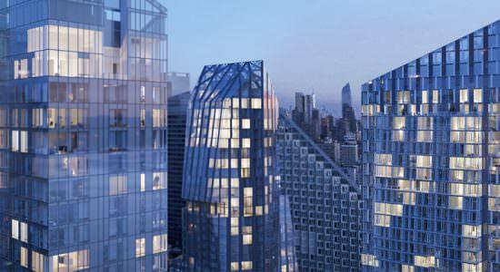 Три небоскреба Waterline Square на Манхэттене