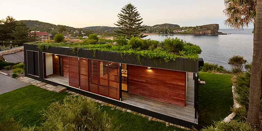 Модульный дом на утесе у океана. Проект Archiblox | фото