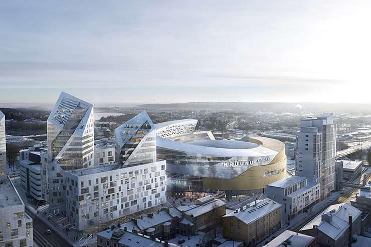 Хоккейная арена города Тампера. Проект Studio Libeskind