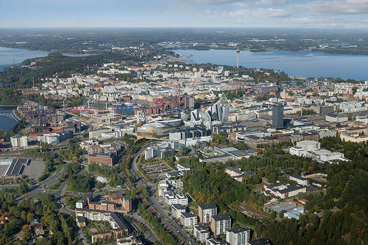Грандиозная стройка в Финляндии. Проект Studio Libeskind