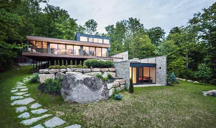 Фото | Ландшафтный дизайн загородного дома от MU Architecture