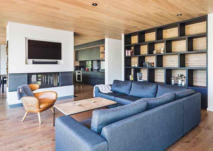 Фото | Угловой диван в интерьере гостиной