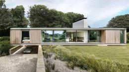 Каркасный панорамный дом в Англии от Strom Architects | фото