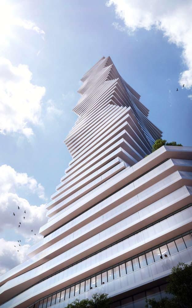 Волнистый небоскреб в Канаде. Дизайн CORE Architects