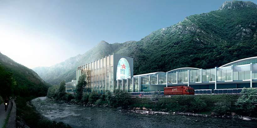 Модернизация существующего завода San Pellegrino в горах Италии
