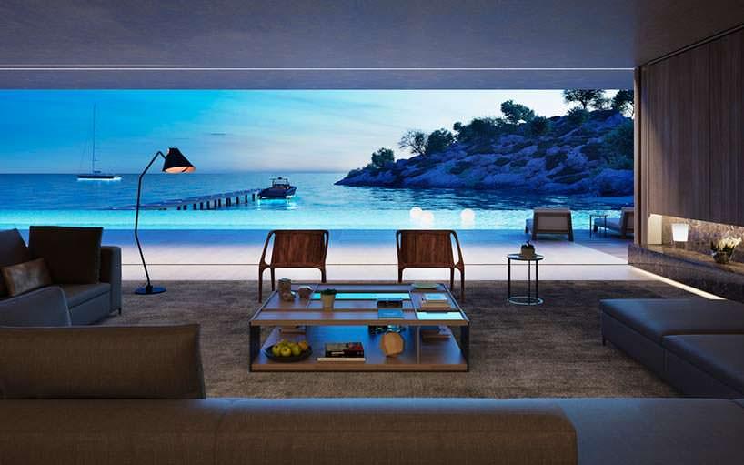 Панорамные окна с видом на море
