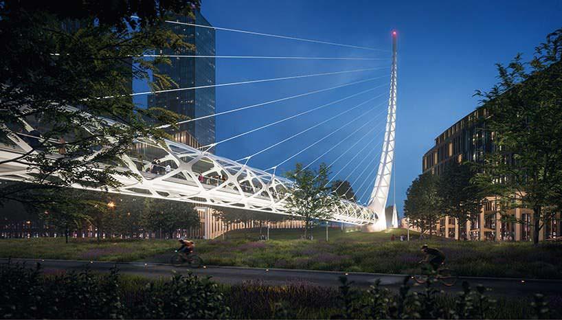 Пешеходный мост к Темзе