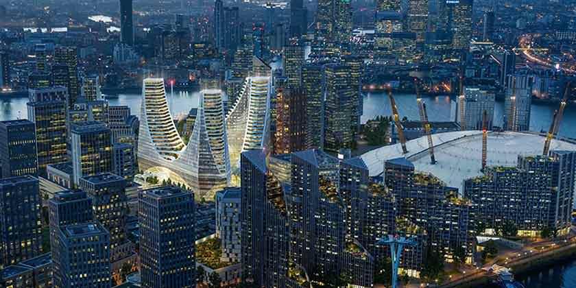 Сантьяго Калатрава построит три башни в Лондоне | фото, инфо