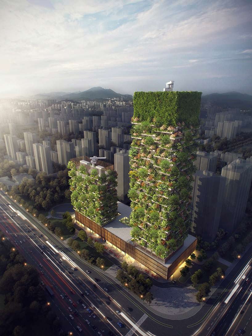 «Зеленые» башни в Китае от Стефано Боэри