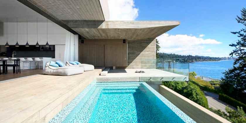 Дом на скале у моря в Канаде от студии Mcleod Bovell | фото