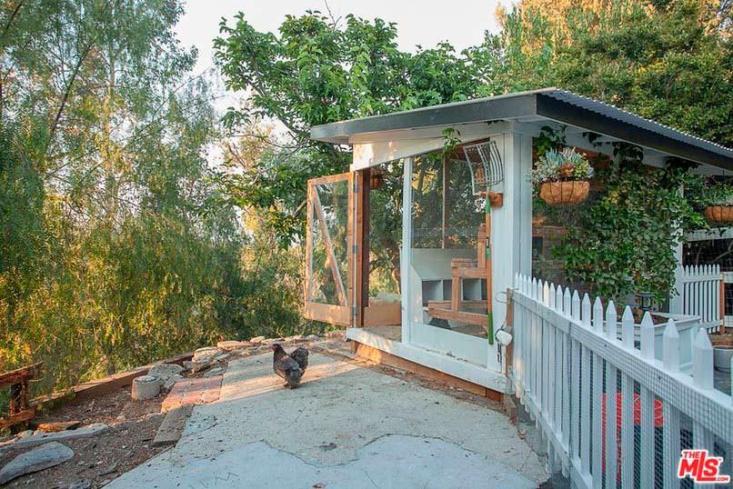 Курятник на территории дома в Калифорнии