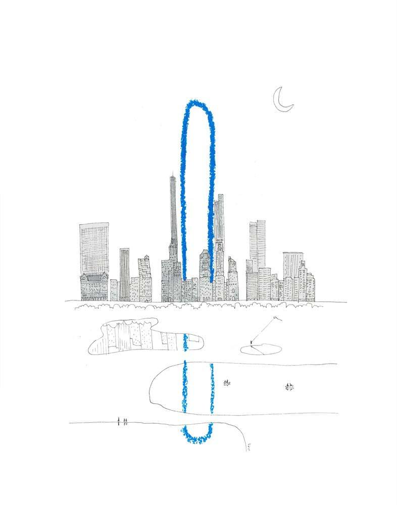 Башня The Big Bend на Манхэттене, Нью-Йорк
