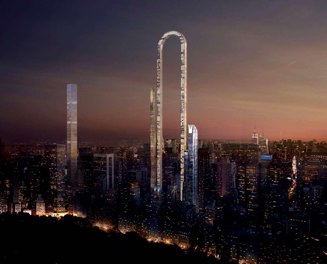 Самый длинный небоскреб в мире The Big Bend на Манхэттене