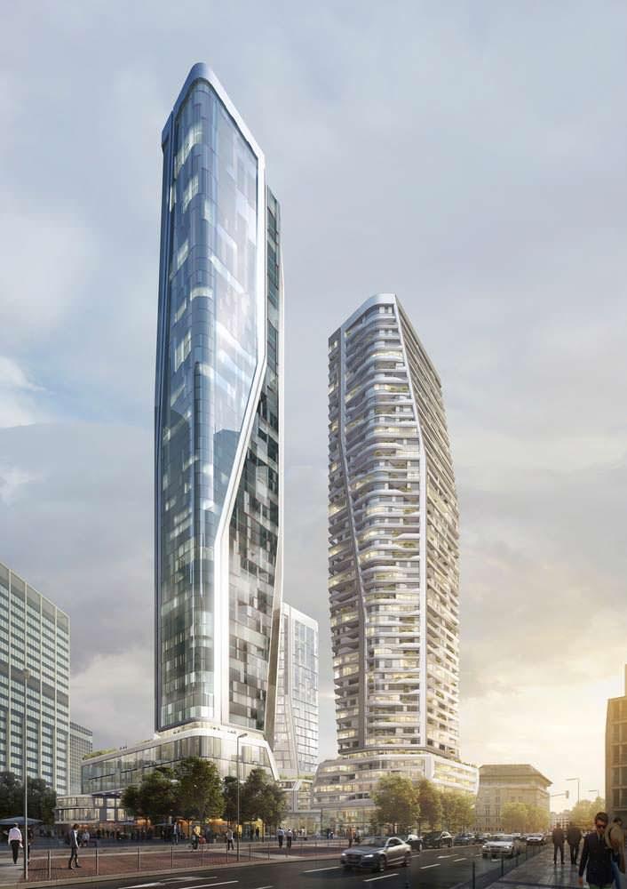 Новые башни во Франкфурте. Открытие в 2021 году