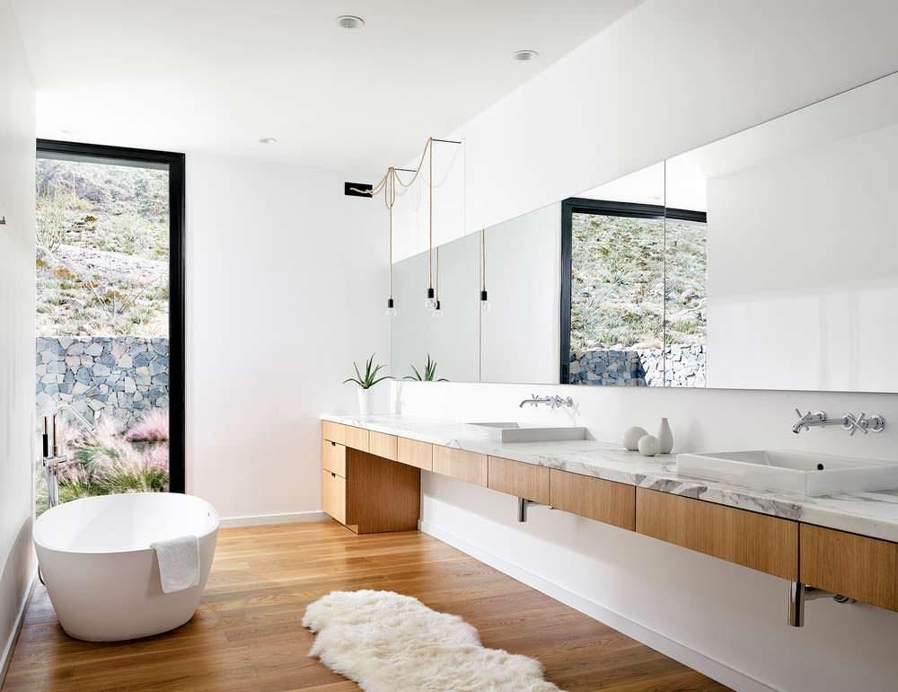 Фото | Гранит в дизайне ванной комнаты от Hazelbaker Rush