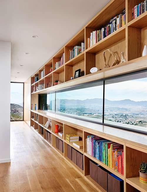 Фото | Панорамная библиотека дома на горе в Эль-Пасо