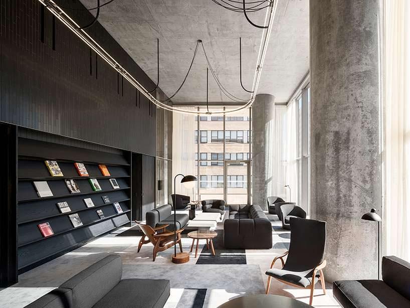 Панорамная библиотека небоскреба 56 Leonard на Манхєттене