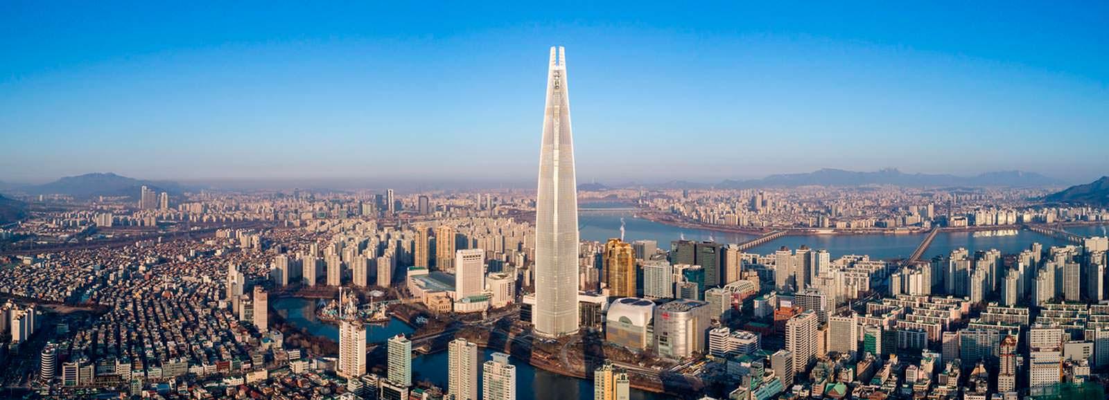 Самый высокий небоскреб Сеула Lotte World Tower: №5 в мире