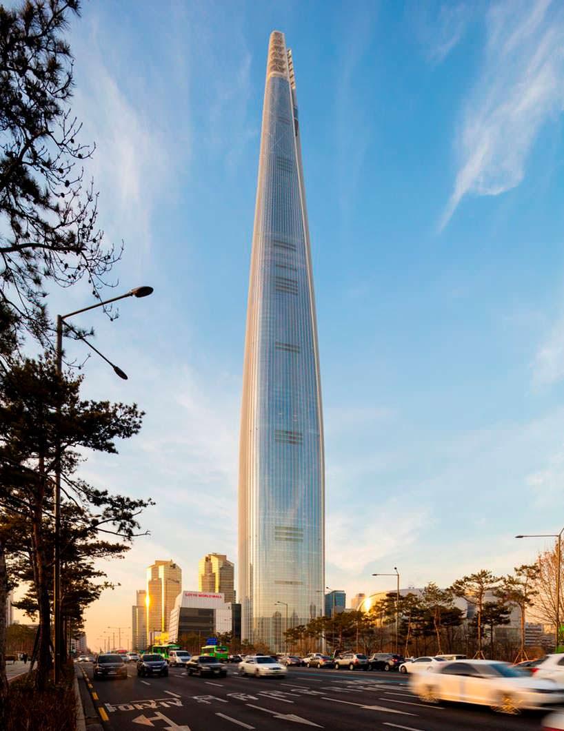 №5 самый высокий небоскреб мира Lotte World Tower в Сеуле