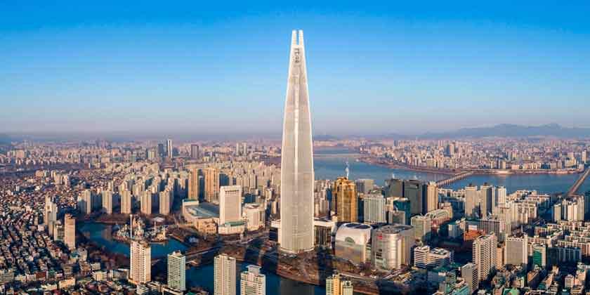 В Сеуле открыли башню Lotte World Tower: №5 по высоте в мире