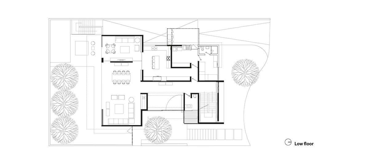 Фото | План первого этажа Casa M7 от Elias Rizo Arquitectos