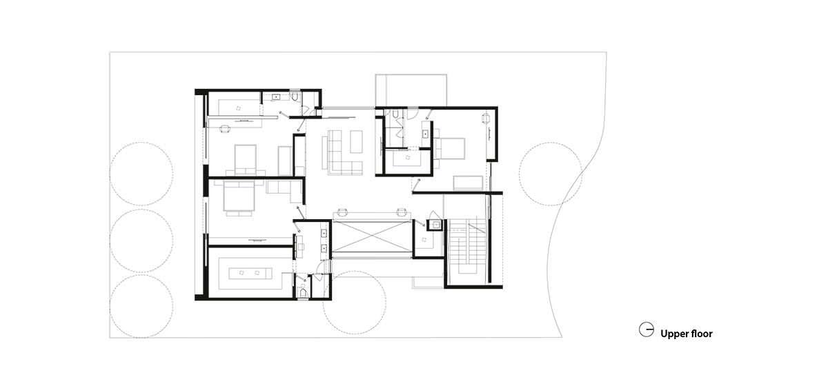 Фото | План третьего этажа Casa M7 от Elias Rizo Arquitectos