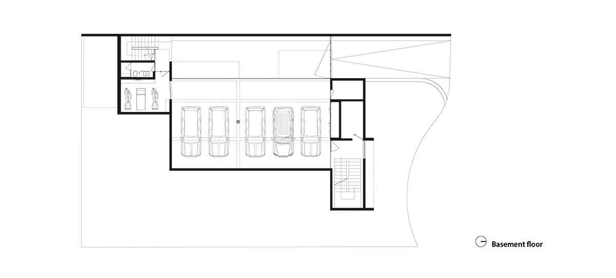 Фото | План подвала Casa M7 от Elias Rizo Arquitectos