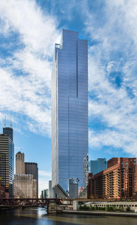 150 North Riverside: офисный небоскреб на берегу реки в Чикаго