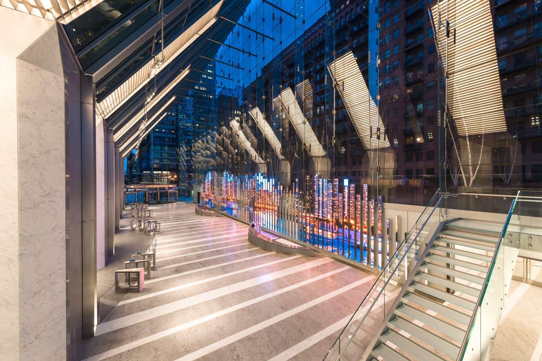 Внутри небоскреба 150 North Riverside от Goettsch Partners