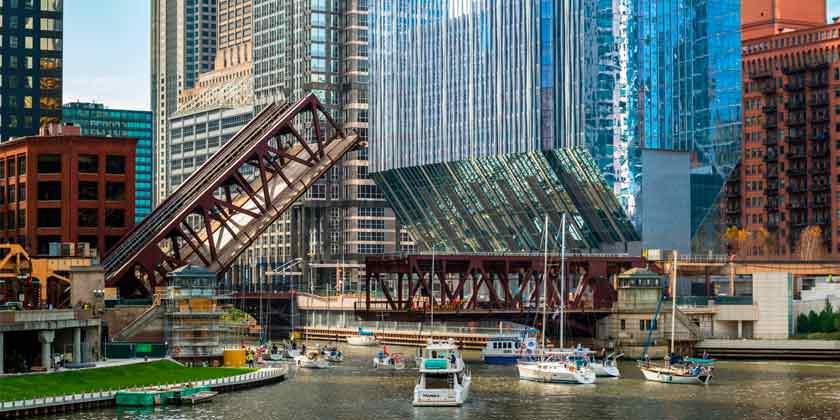 150 North Riverside: небоскреб в Чикаго от Goettsch Partners