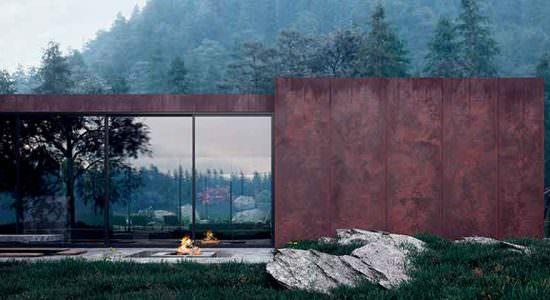 Rose House: дом в стиле минимализм в Карпатах от Сергея Махно