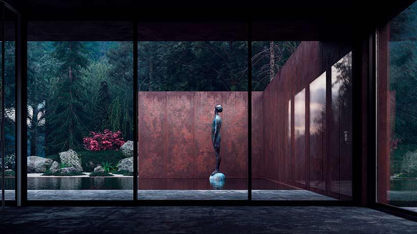 Дизайн бассейна у дома в Карпатах. Архитектор Сергей Махно