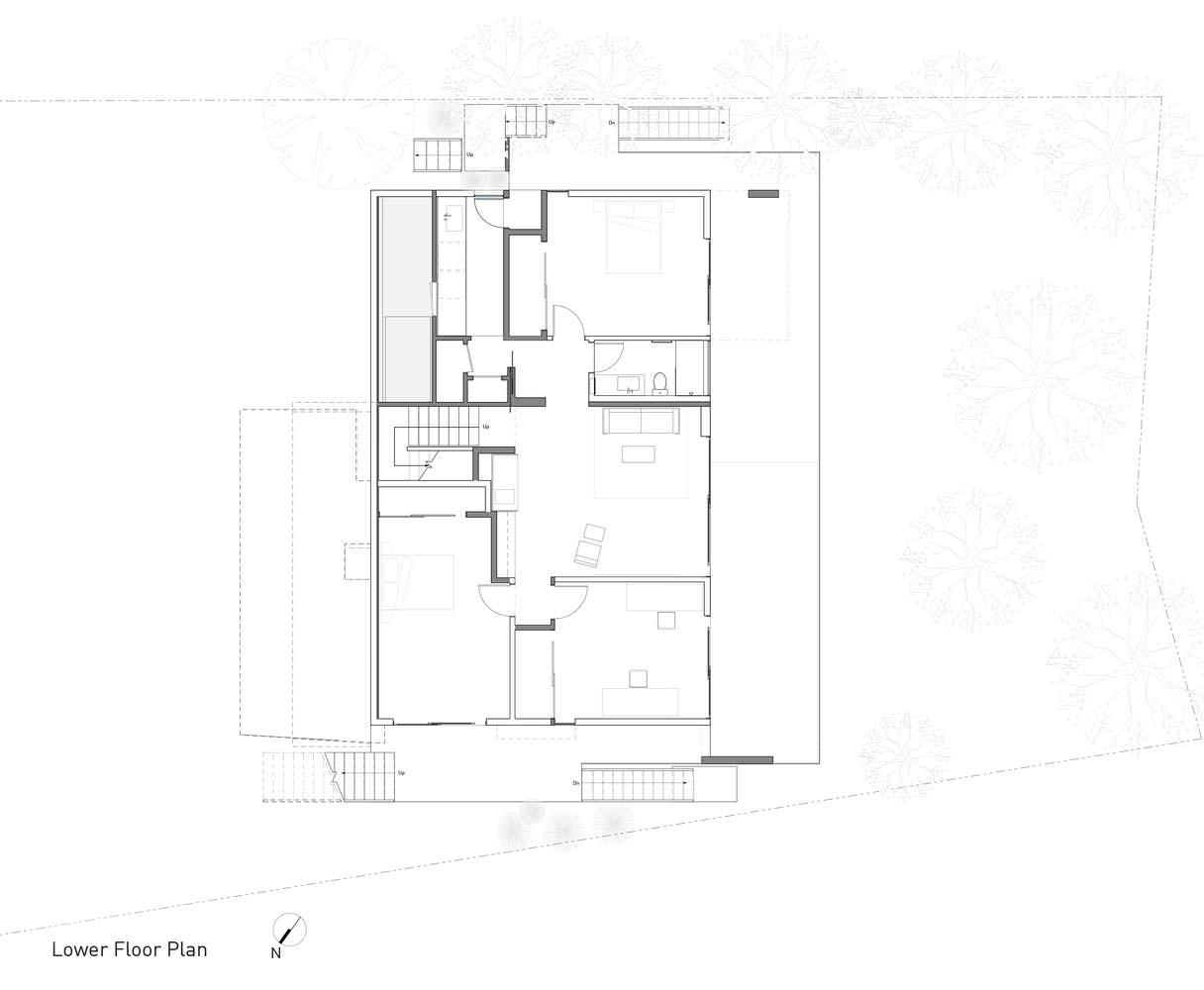 Проект панорамного дома на вершине хребта
