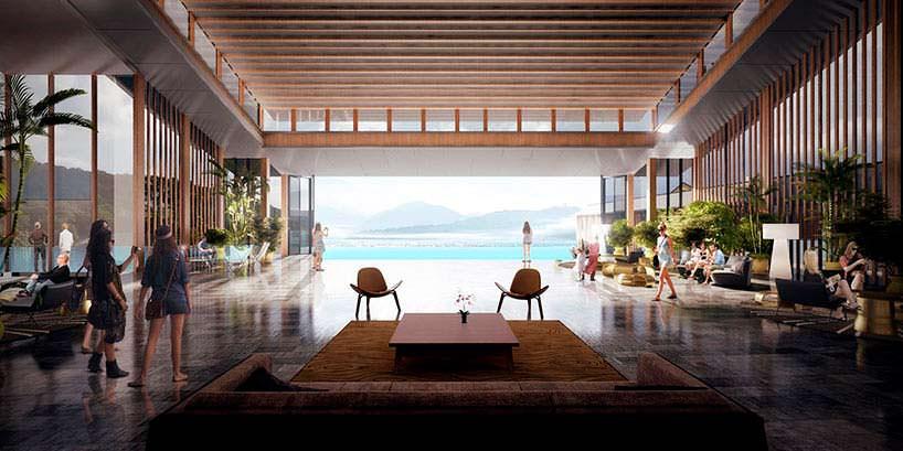 Вид из отеля на природную красоту на юге Китая от Aedas