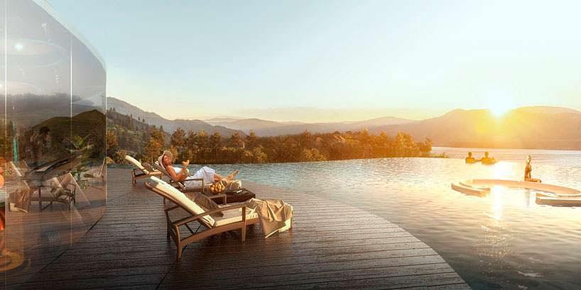 Номера отеля с частными бассейнами в курорте от Aedas