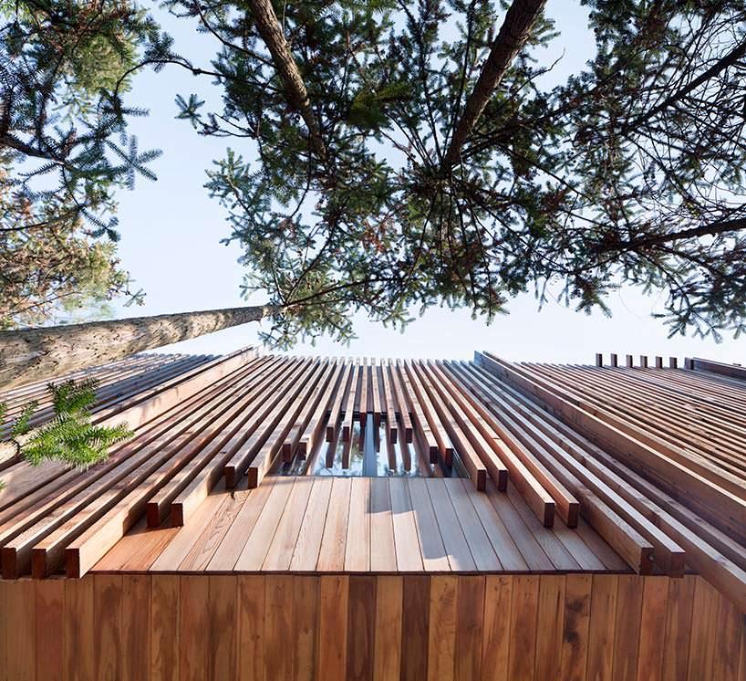 Дизайн деревянной крыши дома от lanD studio