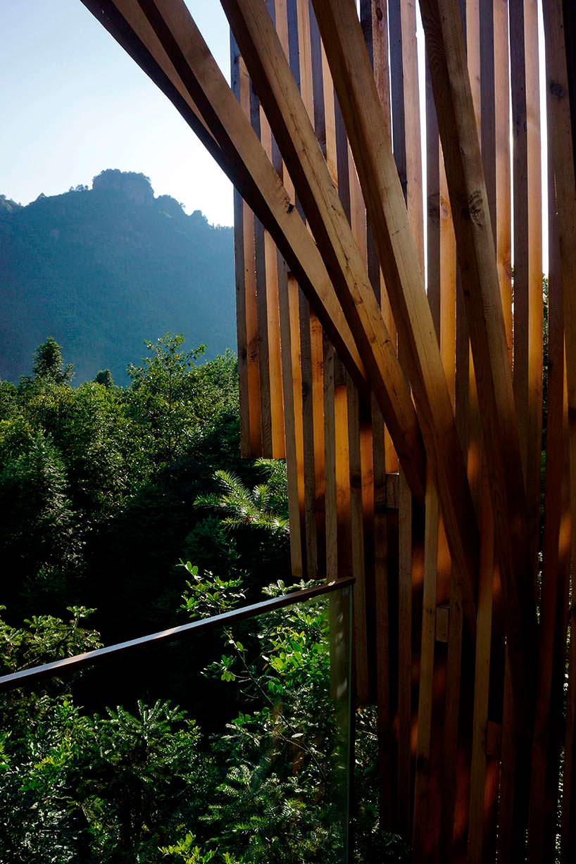 Фото | Вид на долину с балкона дома на дереве