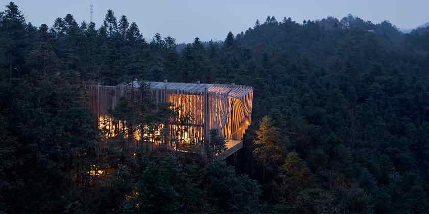 treehouse M: дом на дереве по-китайски от lanD studio | фото