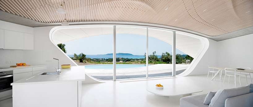 Футуристический дизайн интерьера Villa Ypsilon