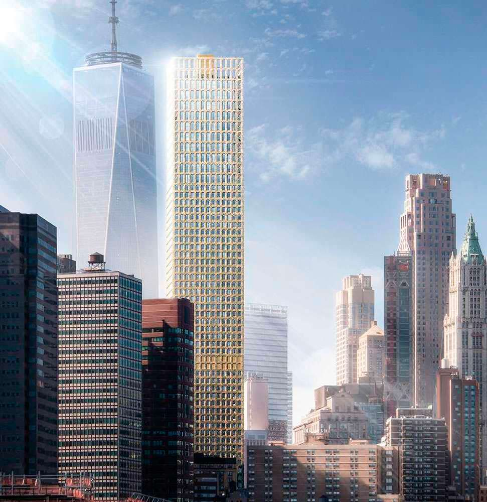 61-этажный небоскреб Wall Street Tower в Нью-Йорке