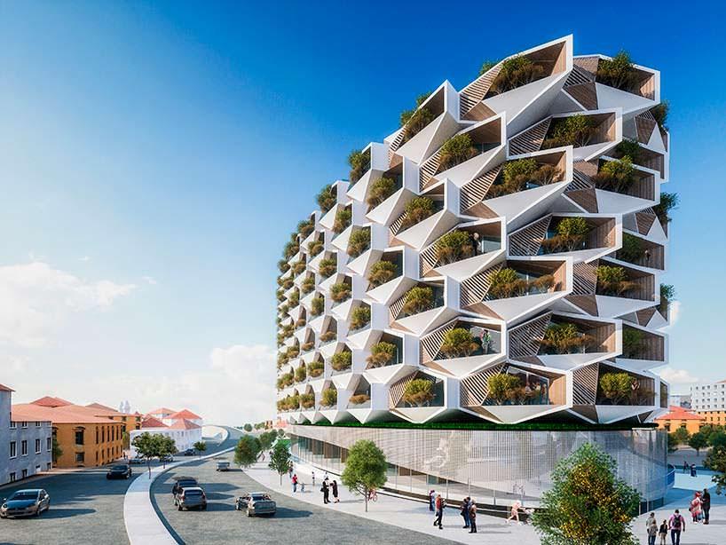 Сотовая структура ЖК в Стамбуле от Eray Carbajo
