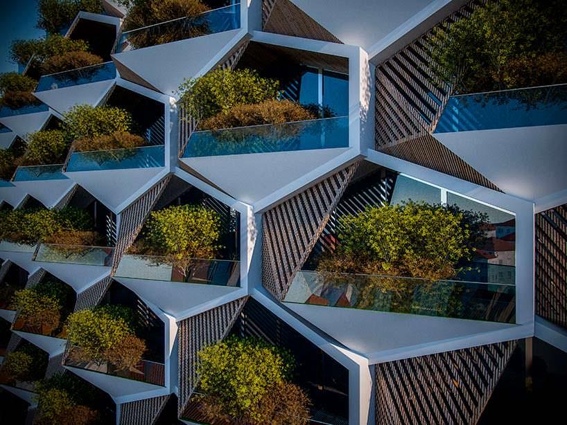 Восьмиугольные модульные секции ЖК в Стамбуле от Eray Carbajo