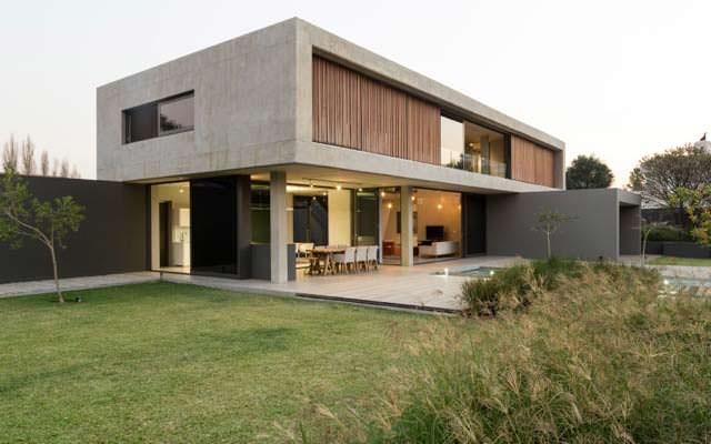 Дом в стиле минимализм с бассейном. Южная Африка