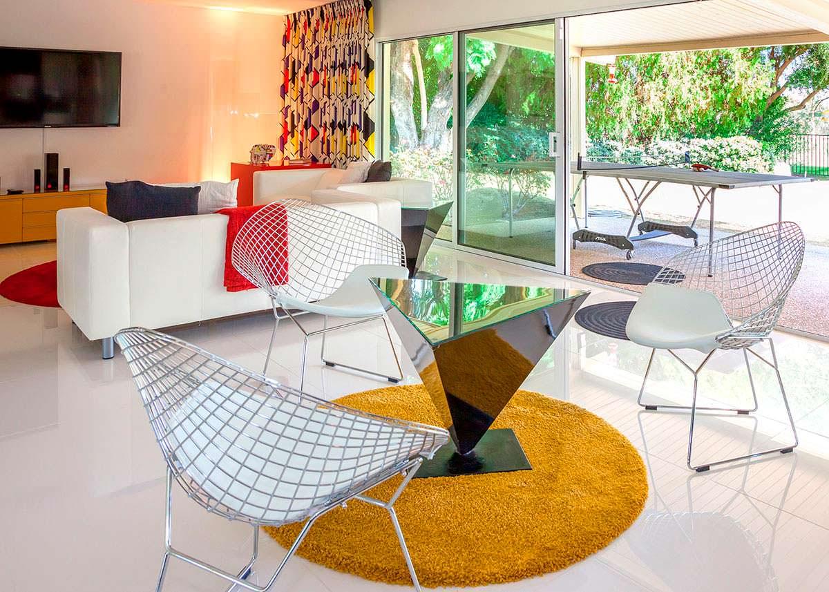 Дизайн гостиной виллы Уолта Диснея в Калифорнии