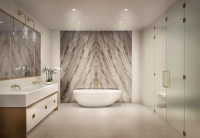 Элитный дизайн ванной комнаты в пентхаусе Тимберлейка