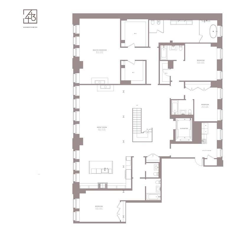 План первого этажа пентхауса Джастина Тимберлейка